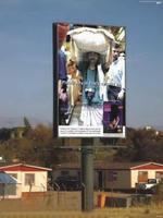 Low price promotional mobile advertising tri billboard vans