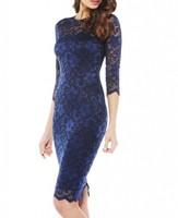Custom design wholesale 2015 blue lace dress bodycon indian dress design patterns