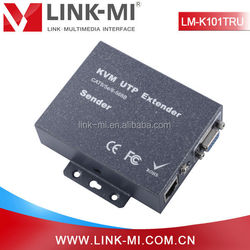 LM-K101TRU 100m Audio Video USB KVM Extender Switch Transmitter Receiver Support Keyboard and Mouse