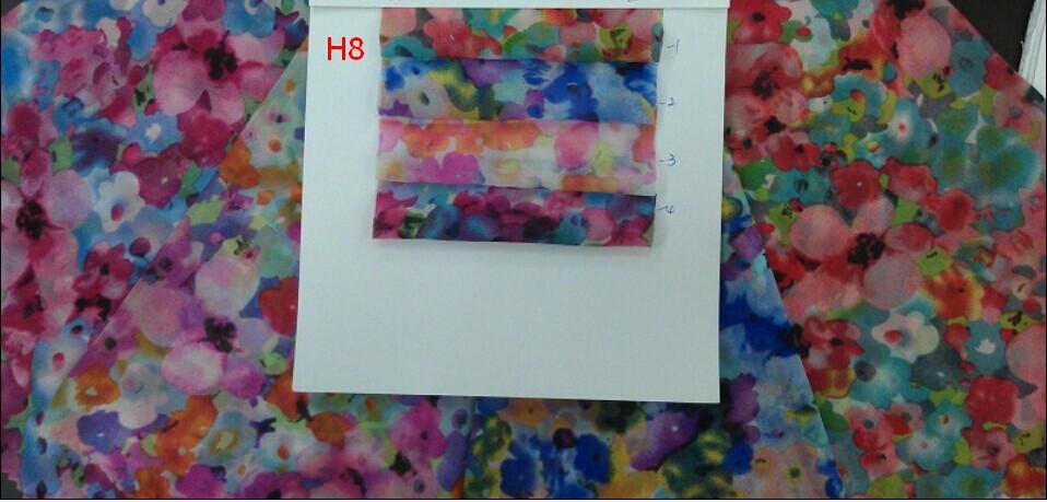 Ity silklike d 39 impression mousseline tissu chiffon de - Impression sur tissu maison ...
