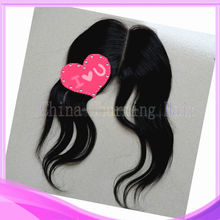 popular stock 100% human remy silk base lace frontal closure with baby hair