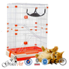 Safe, comfortable pet cage lifestyle cat cage