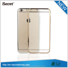 New full clear electroplate PC case for iphone 6 6 plus cover
