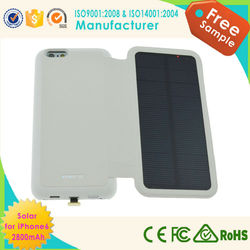 factory wholesale solar mobile phone case for iphone 6, for iphone 6 hard case