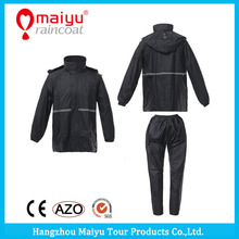 Maiyu Sport Two-piece 100% Waterproof Motorcycle Riding Polyester Rain Coat,best prices raincoat