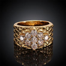 multi crystal snakeskin pattern ring gold plated jewelry fashion ring