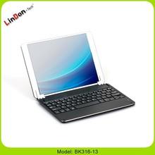 Fashion style aluminium keyboard case for ipad 5, wireless keyboard case for ipad 5
