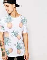 Weekday t shirt pineapple all over print t shirt design