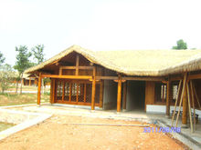 The artificial outdoor plastic thatched roofing