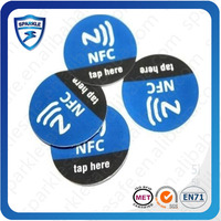 Factory offer PET paper printing 13.56mhz paper nfc sticker