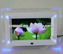 cheap 7 inch Digital Photo Frame with LCD Screen, Supports WMA and MP3 music Formats