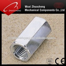 zinc plated hex coupling nuts