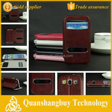 High quality cell phone window flip cover for SamSung I9300 GALAXY SIII S3 Case