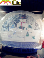 CILE 2015 latest giant inflatable snow globe for christmas decorations