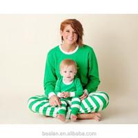 2015 christmas monogrammed pajamas set matching family stripe wholesale cotton pajamas