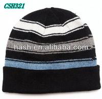 Knitting pattern striped hat for men