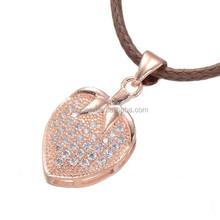 hot sale luxury pave rhinestone zircon heart jewelry 2015 fashion gold pendant heart necklace