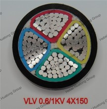 4 Core 150mm Low Voltage PVC Insulated Aluminum Electric Cable