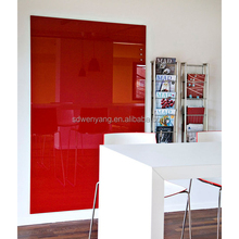 Wall-mounted Magnetic Glass Board For Writing and Conveying Message