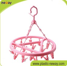 Durable Plastic Round Sock hanger with 22 pegs