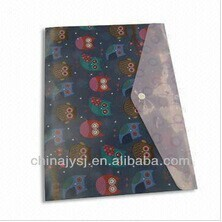 fashionable handmade envelope file folder with button closure