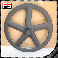 China factory direct sell Top grade Super Light carbon 5 spoke bicycle wheel,clincher five spoke wheel,700C carbon five spoke