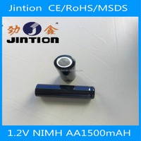 2015 Jintion standard RC helicopter nimh 1.2volt AA 1500mAh rechargeable battery with CE Rohs MSDS