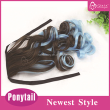 Deniya highlights curly clip in hair extension wrap around clip in ponytail