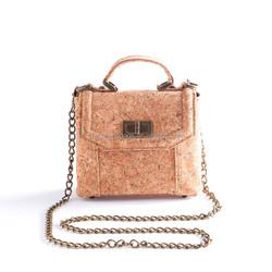 Unique natural soft wood bag elegant lady cork handbag princess evening bag
