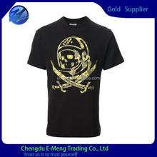 Wholesale Cheap Price Short Sleeve Fashion Logo Men Printing T-shirt in Black