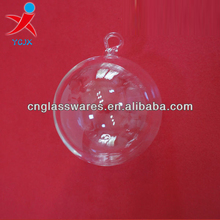 hand blown hanging clear borosilicate glass ball ornaments for sale