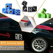 Solid Dice Tire Valve Cap Anti Dust Car Tire Stems With Patent Cert
