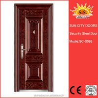 popular exterior high quality red security steel door