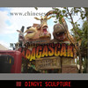 animal sculpture Madagascar cartoon sculpture
