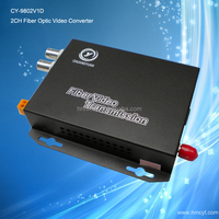 2channel video 1 channel reverse data(RS485) Multi-mode single fiber 2KM,ST fiber interface CY-9802V1D