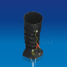 Compressible industrial ventilation ducting