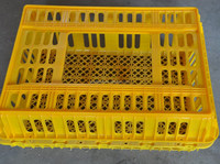 High impact plastic chicken transport cage from Poul Tech