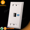 1 port RJ45 RJ11 Faceplate with Changable logo HM-FPO1-1