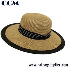 Designed Band Wide Brim Straw Hat