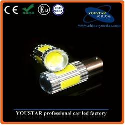 High quality 13.5W COB led brake light 1156/1157 yellow blue turn signal light bulbs motorcycle