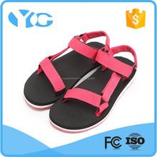 High quality handmade shoe ladies fancy flat sandal new designs flat sandals