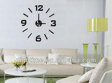 Removable 3D DIY sticker wall clock