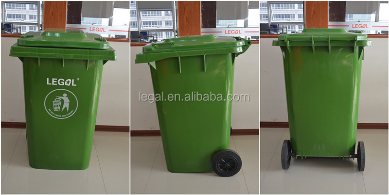 Poubelle en plastique de roue d chets alimentaires for Poubelle broyeur