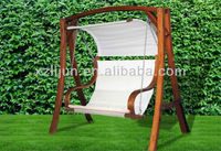 GARDEN WOODEN SWING CHAIR
