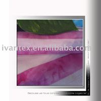 Material and woven technics T/R Stripe with tie dyed knitted fabric
