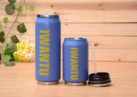 Promotional Metal Thermos Mug,stainless steel vacuum cola can with straw