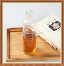 2015 new product! China wholesale 550ml beverage(wine) soft drinking use silica lid cover glass drinking bottle