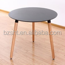 MDF top beech wood legs dining table .