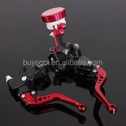"Motorcycle CNC Red Universal Brake Clutch Lever Master Cylinder For Sport bike/Street bike/Scooter/Dirt Bike 7/8"" 22MM"