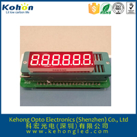 0.36 inches 6 Digit 7 Segment redcolor LED Display